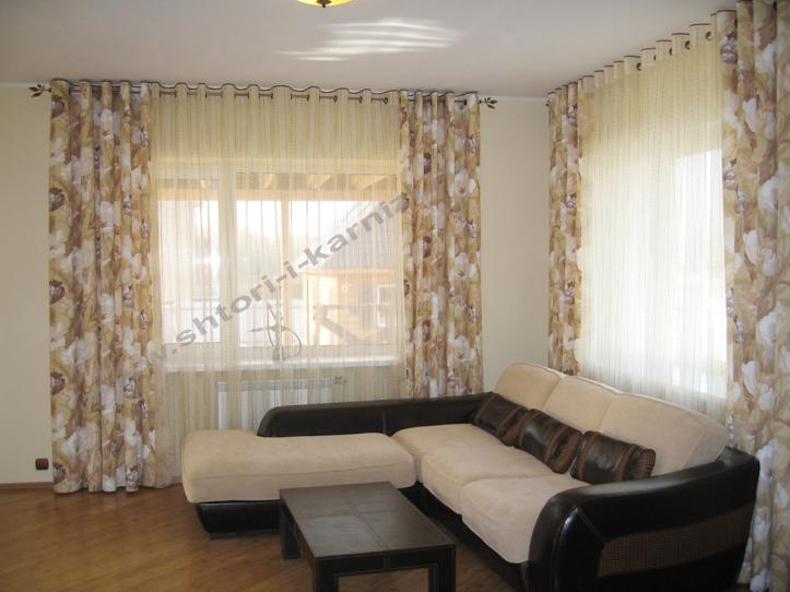 шторы на петлях в гостиную фото