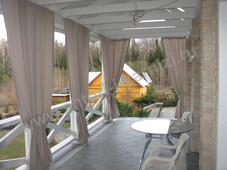 Сшить шторы для веранды